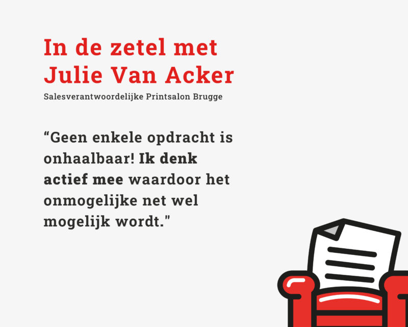 In de zetel met Julie Van Acker Printsalon
